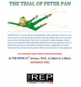 Trial of Peter Pan by Side By Side Theatre Company Stourbridge
