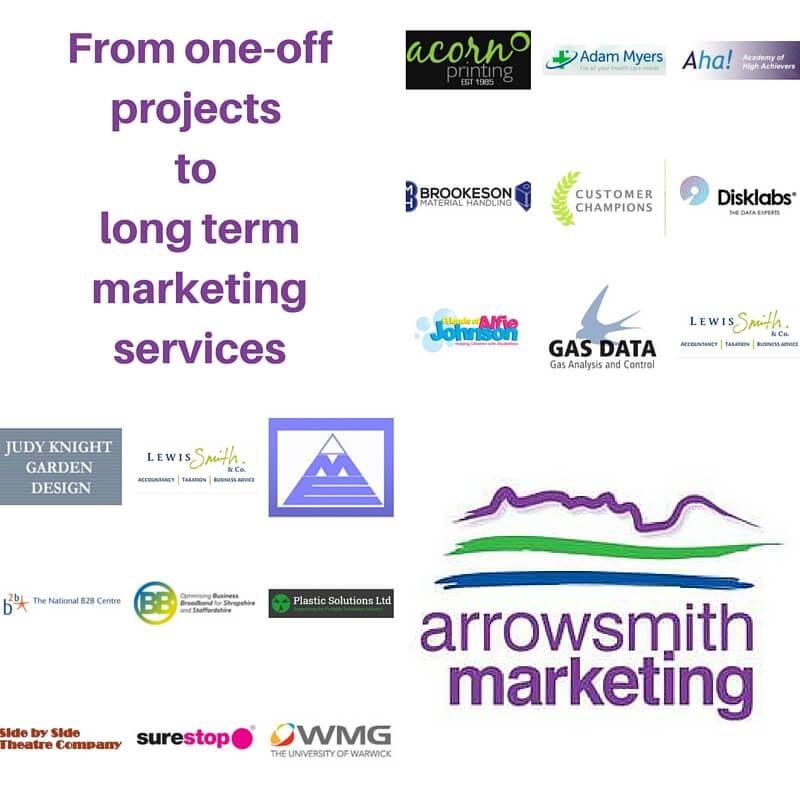 Digital marketing clients for Stourbridge based Arrowsmith Marketing