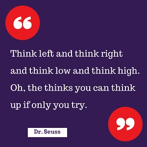 Dr seuss quote to help content development