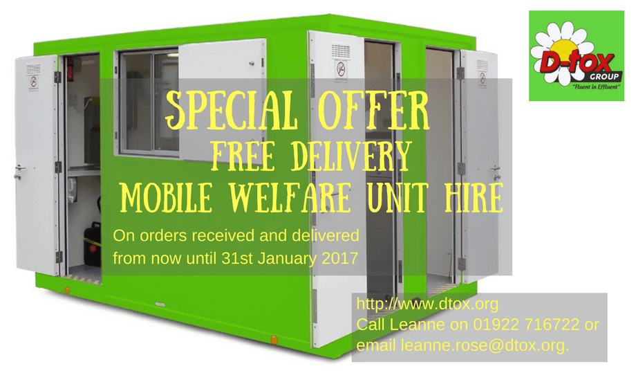 Midlands Site Welfare Unit Hire
