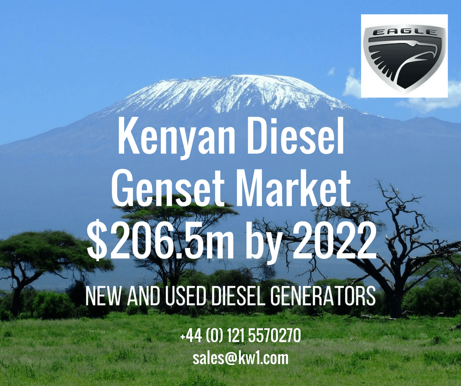 Eagle Generators is looking to take advantage of a big growth n the Kenyan diesel generator market