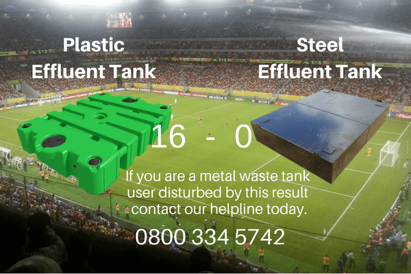 Plastic Solutions' plastic effluent tanks beat metal effluent tanks hands down