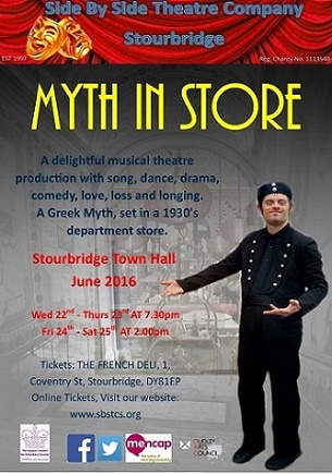Side By Side theatre company Myth in Store